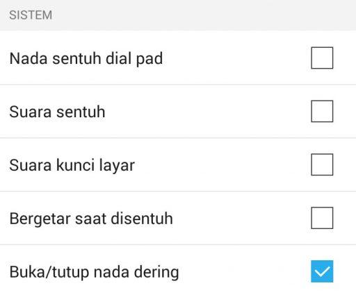 Cara Nonaktifkan Nada Sentuh di Android
