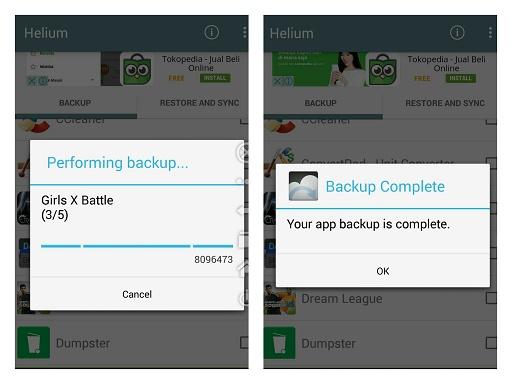 Cara Backup Data di Android Dengan Helium - 4