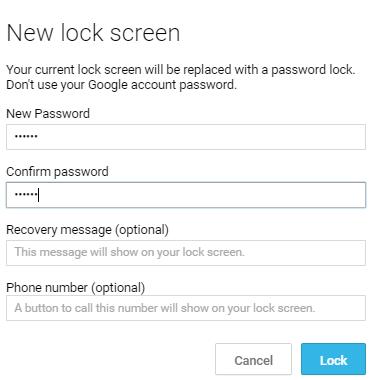 Masukkan Password Kunci Layar