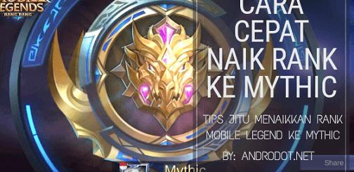 Cara Cepat Naik Rank Mobile Legends