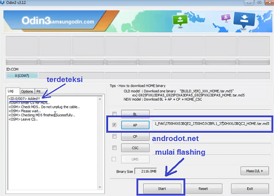 Cara Flash Samsung Galaxy Core 2 SM-G355H via ODIN