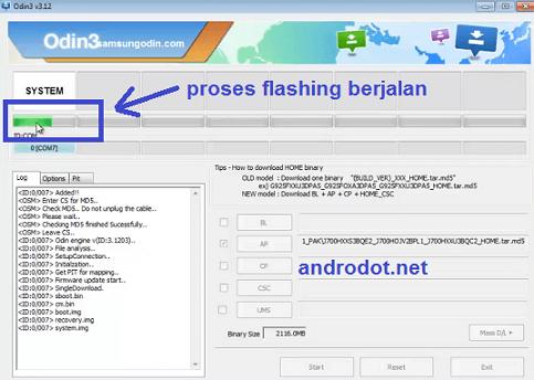 Cara Flash Samsung Galaxy Core 2 via ODIN